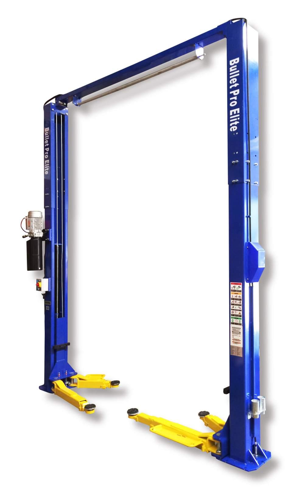 medium resolution of bulletpro elite jl35a m 2 post clear floor hoist 4 ton