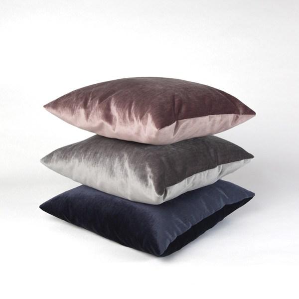 Jazz Silver декоративная велюровая подушка