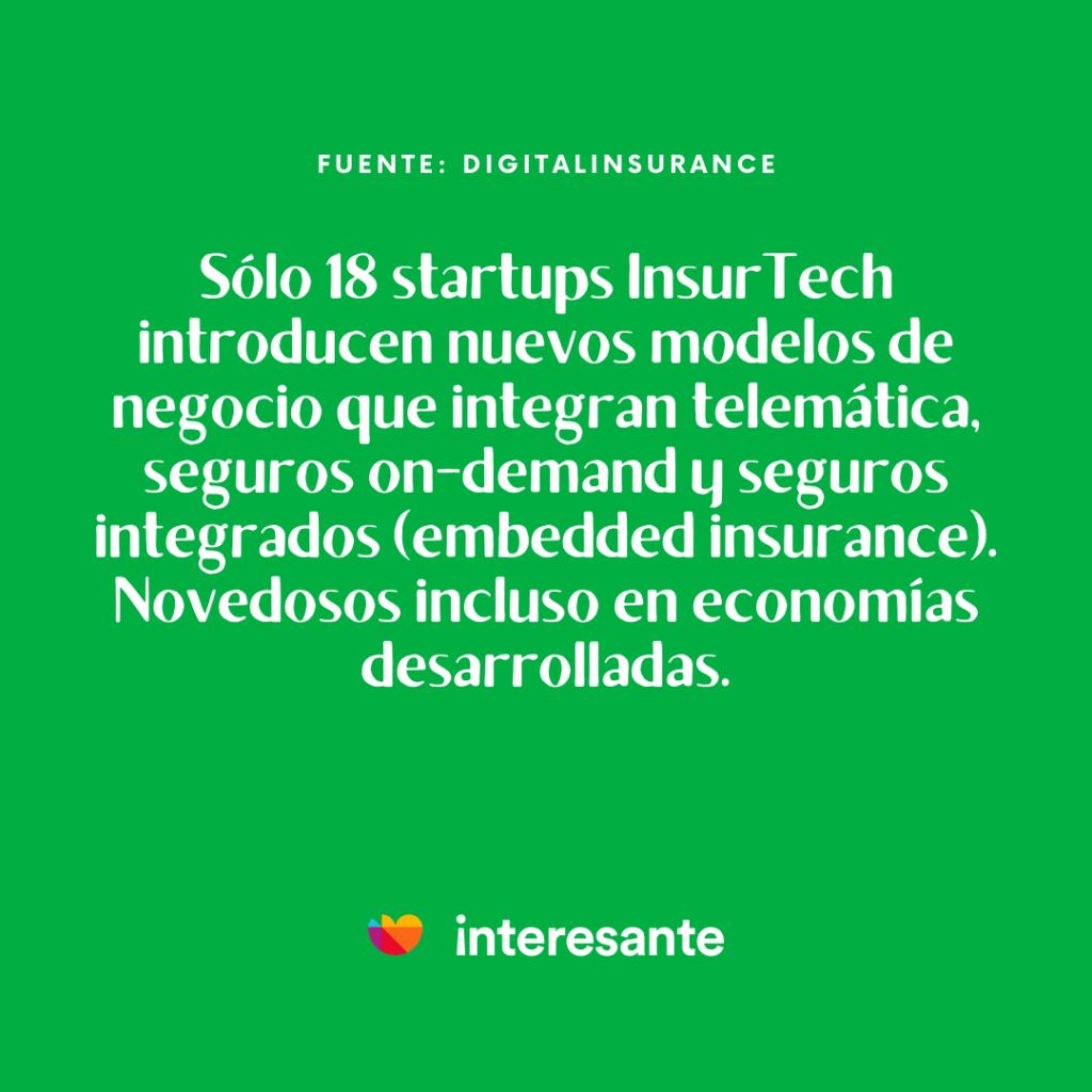 Startups InsurTech introducen nuevos modelos de negocio