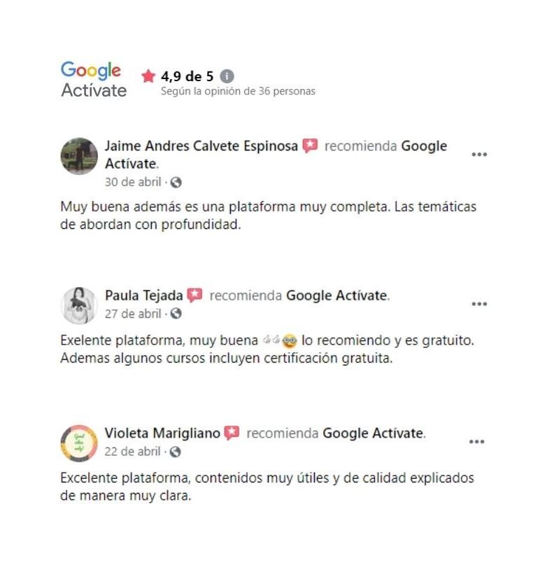Google Activate plataforma e-learning gratuita