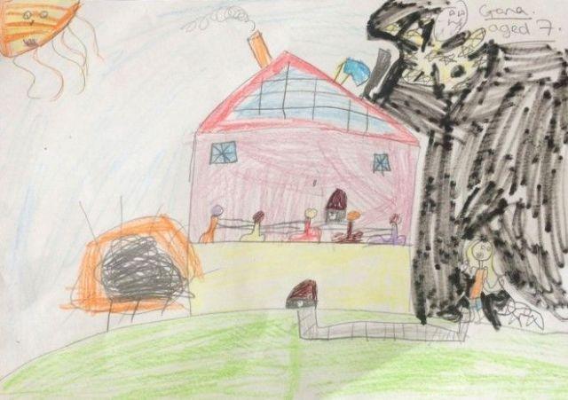 Если бы наши дома были разработаны детьми они бы выглядели так дети дом прикол жилье забавно художники рисунок