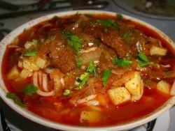 Суп «Шурпа» из Говядины с Фасолью