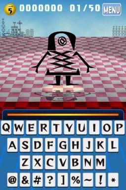 アルファベットや記号は、縦・横・斜め・反転と、いろいろな形でモンスターを構成している!