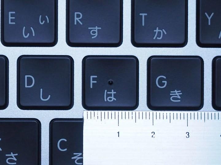 MacBookProのキーピッチ