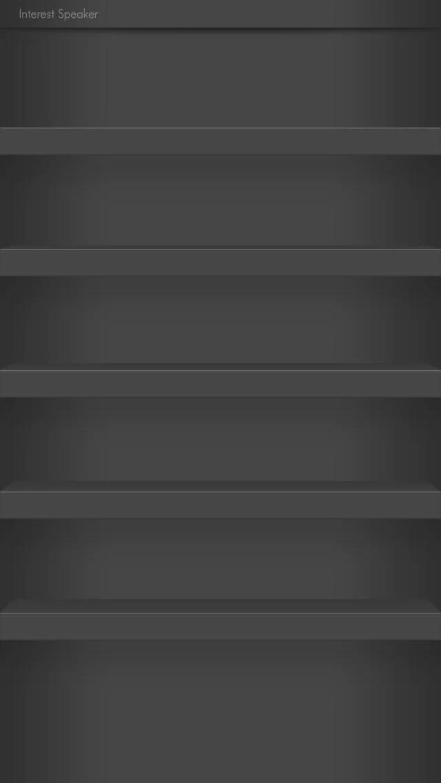 棚壁紙-shelf01-black iPhone 5 ホーム画面用壁紙