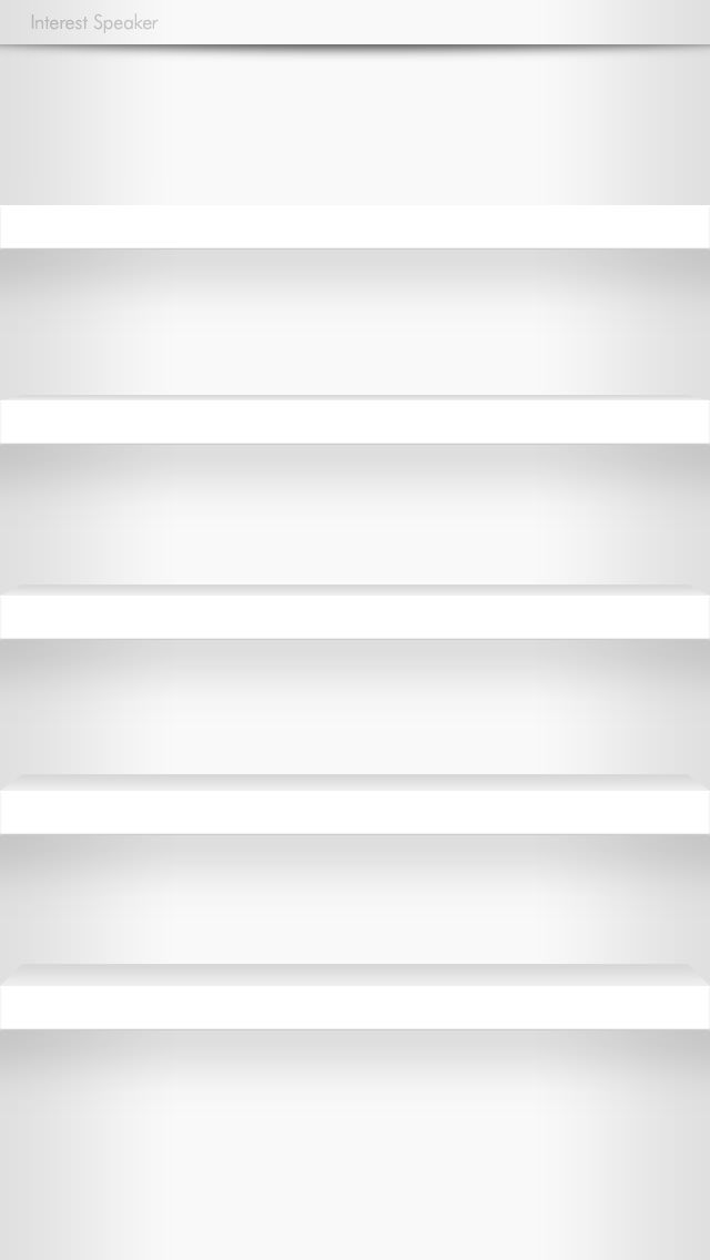 棚壁紙-shelf01-white iPhone 5 ホーム画面用壁紙