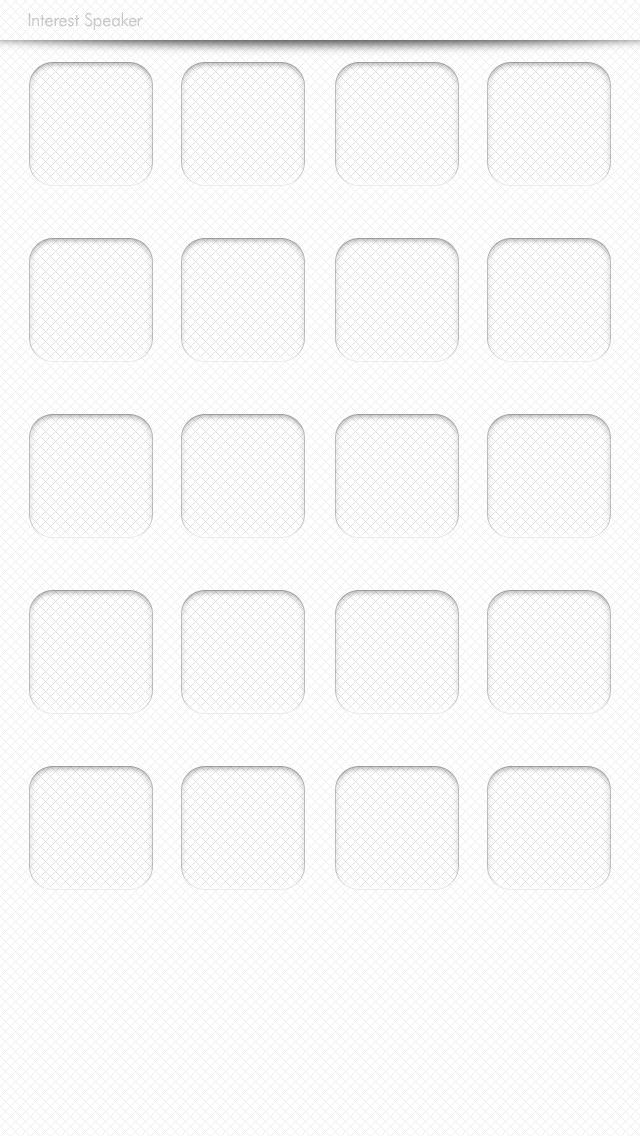simple01-white iPhone 5 ホーム画面用壁紙