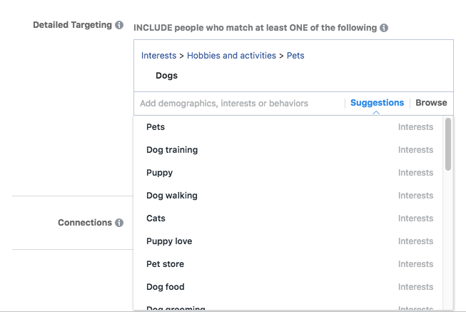 facebook ads interest suggestions