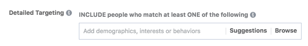 facebook interests detailed targeting