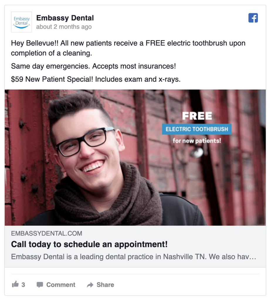 embassy-dental-facebook-ad