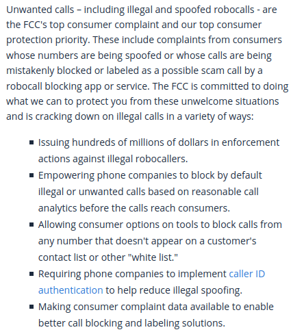 FTC Robocall rules