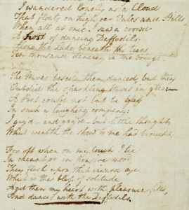 Wordsworth Daffodils