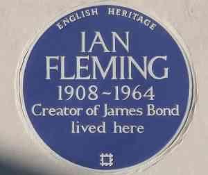 Ian Fleming plaque