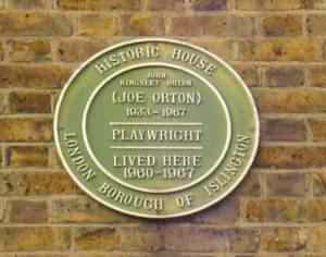 Joe Orton plaque