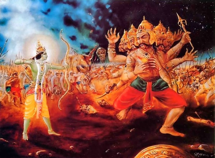 Rama(left) and Ravana(right)