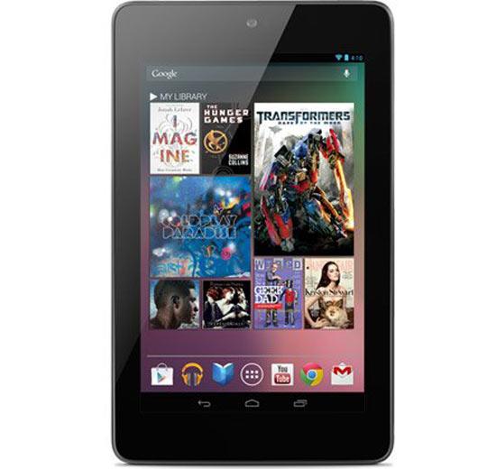 Google Nexus 7 Tablet Front View