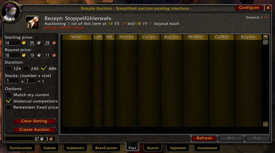 Auctioneer   World of Warcraft Addons   Interface Addons
