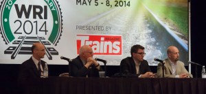 The WRI 2014 panel discussion featured Sean Woody, Bill Blevins, Matt Dick, and Ryan McWilliams.