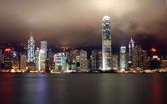 Hong Kong by Night wallpaper