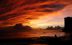 Oahu in the Evening wallpaper
