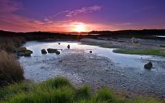 High-resolution desktop wallpaper Ambury Sunset by Chris Gin