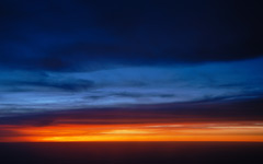Sunset Over the Clouds wallpaper