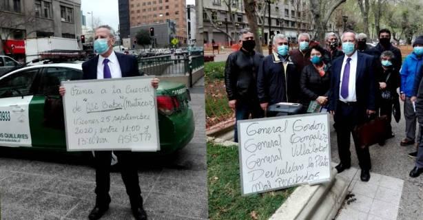 Carabineros manifestantes en edificio Mutucar | 25-09-20