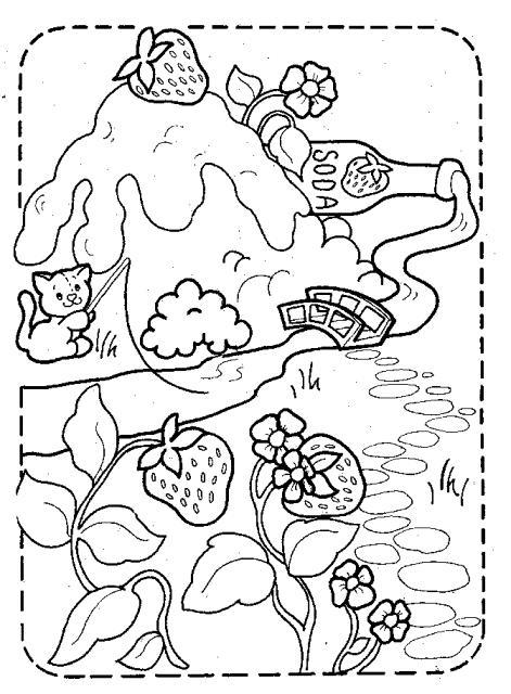 capsuni-si-fragute-planse-de-colorat