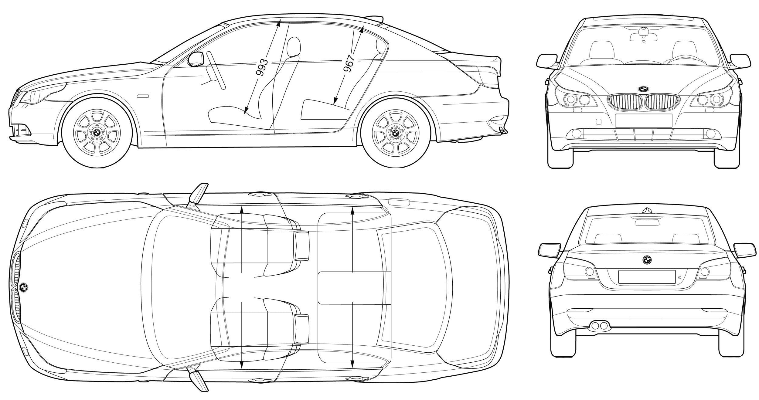 Car Blueprints 3d Model Interfox Smart
