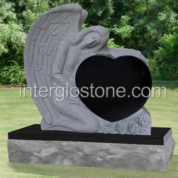 Interglo Stone  Heart Headstones