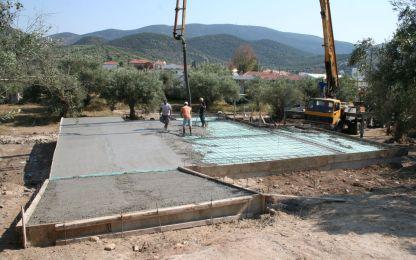 Εκσκαφή και κατασκευή της μπετοκατασκευής –με Υγρομόνωση και θερμομόνωση από τα  θεμέλια, ώστε η κατασκευή να έχει τις προδιαγραφές  ΠΡΑΣΙΝΗΣ ΔΟΜΗΣΗΣ.
