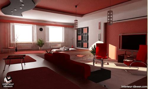 Voorbeelden interieur woonkamer rode woonkamer for Interieur woonkamer voorbeelden