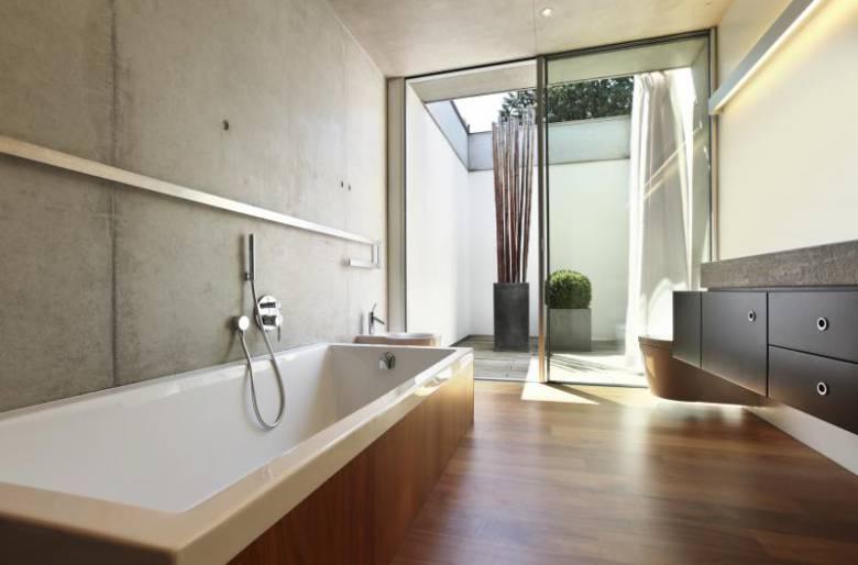 badkamer ideeen houtlook