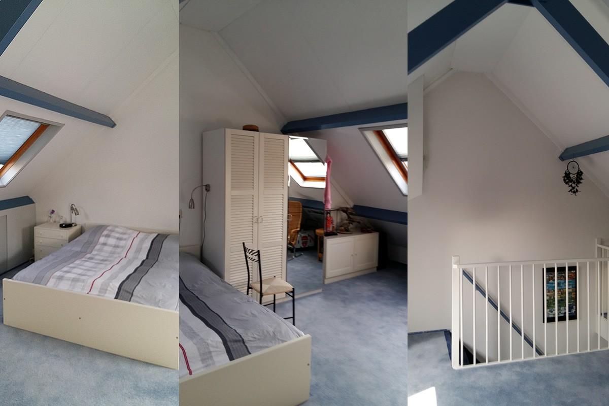 Slaapkamer op zolder  Interieur Paauwe Zonnemaire