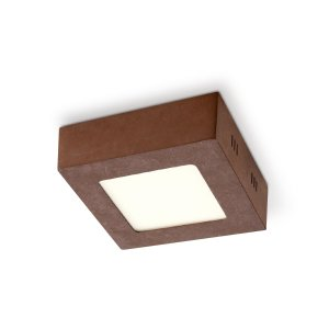 Home sweet home LED plafondlamp Ska 12 vierkant - roest