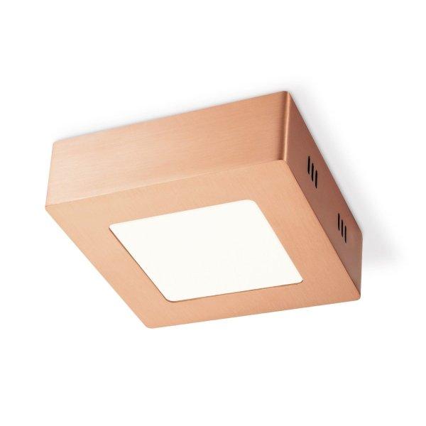 Home sweet home LED plafondlamp Ska vierkant 12 - koper