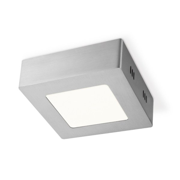 Home sweet home LED plafondlamp Ska vierkant 12 - mat staal