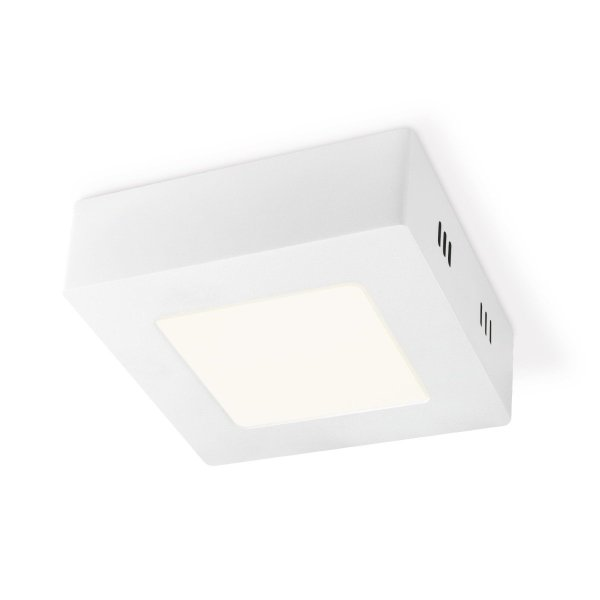 Home sweet home LED plafondlamp Ska vierkant 12 - wit