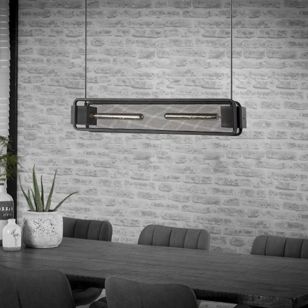 Home sweet home hanglamp Weave Beam 2 lichts - zwart