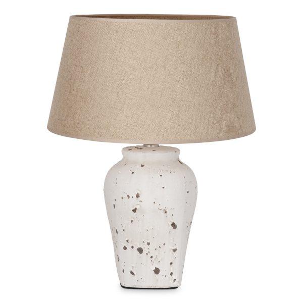 Home sweet home tafellamp Luke grijs/beige keramiek met lampenkap Melrose - taupe