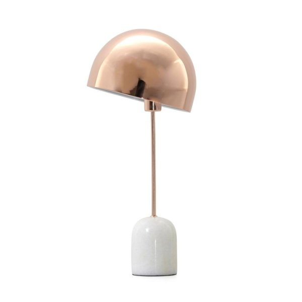 Home sweet home tafellamp Marble - marmer/koper
