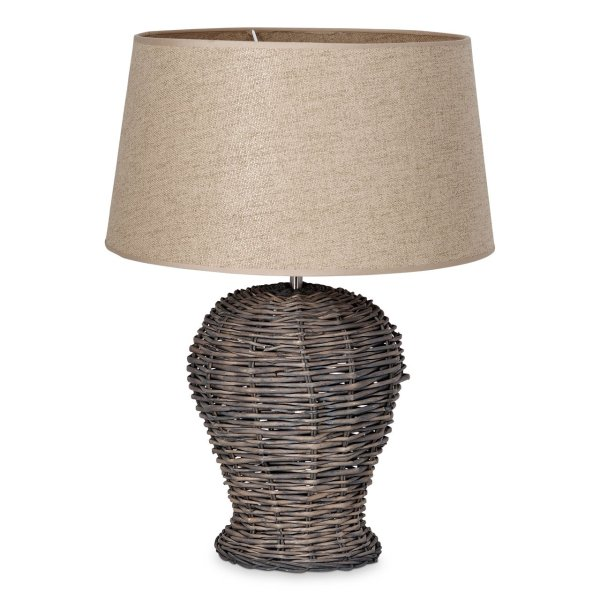 Home sweet home tafellamp Roseau - met lampenkap Melrose - taupe