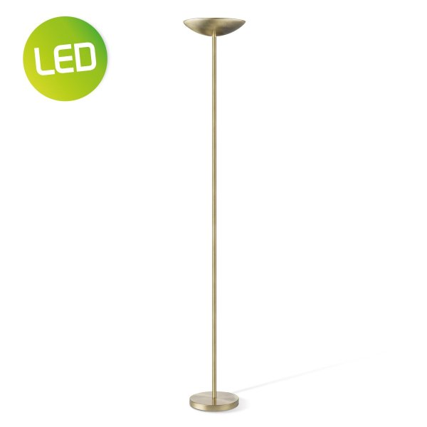 Home sweet home vloerlamp Easy LED uplight - brons