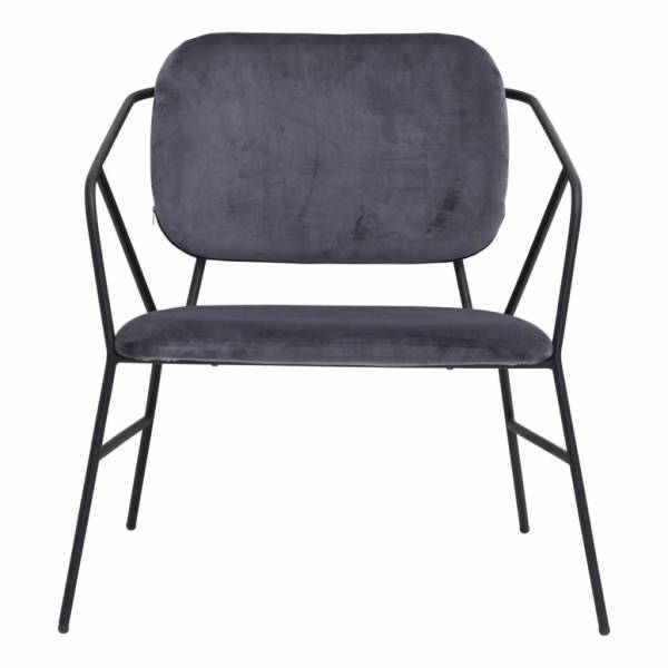 House Doctor Klever Lounge Chair Stof Antraciet