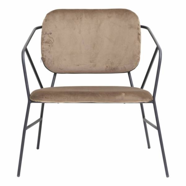 House Doctor Klever Lounge Chair Stof Lichtbruin