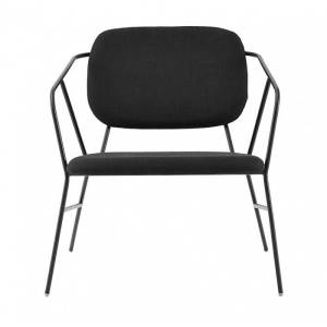 House Doctor Klever Lounge Chair Stof Stof Zwart