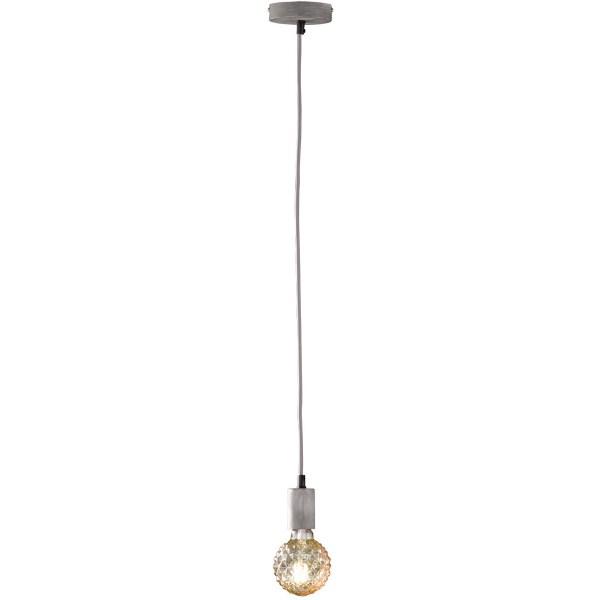 LED Hanglamp - Hangverlichting - Trion Cardino - E27 Fitting - 1-lichts - Rond - Antiek Grijs - Aluminium