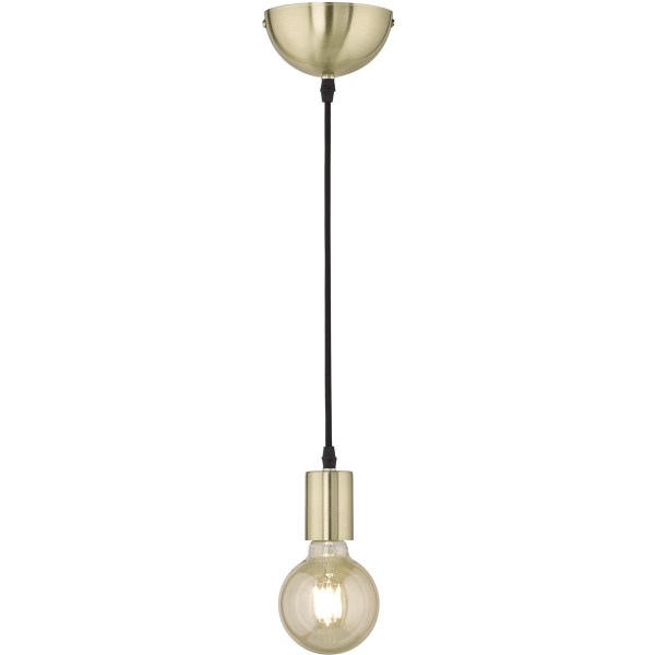 LED Hanglamp - Hangverlichting - Trion Cardino - E27 Fitting - 1-lichts - Rond - Mat Goud - Aluminium