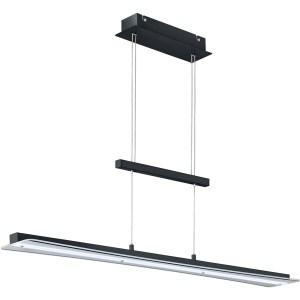 LED Hanglamp - Hangverlichting - Trion Sena - 18W - Aanpasbare Kleur - Rechthoek - Mat Zwart - Aluminium