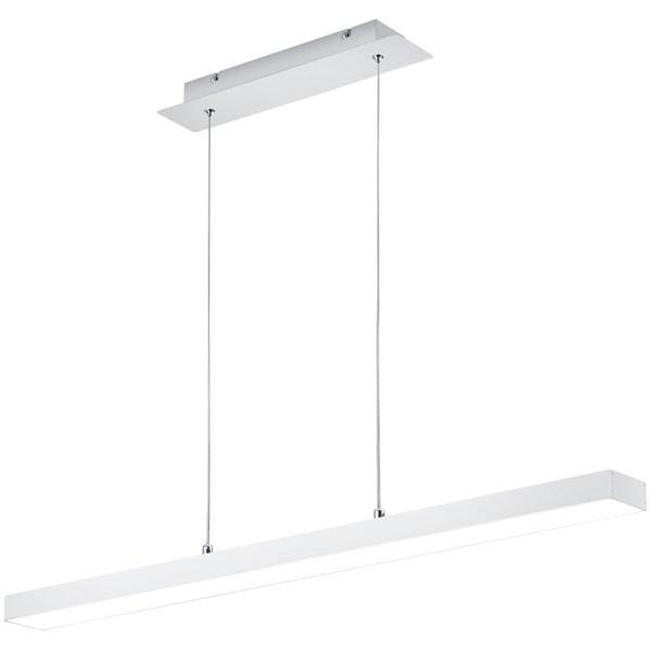 LED Hanglamp - Trion Agina - 18W - Aanpasbare Kleur - Dimbaar - Rechthoek - Mat Wit - Aluminium